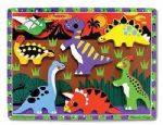 CHILDRENS CHILD MELISSA AND DOUG WOODEN DINOSAURS CHUNKY 7 PIECE PUZZLE